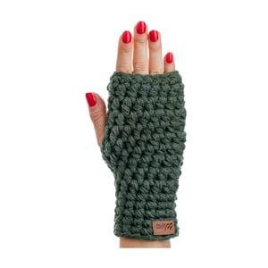 Olivovozelené ručne háčkované návleky DOKE Dina