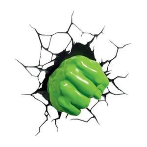 Detské 3D svetlo na stenu Hulkova päsť