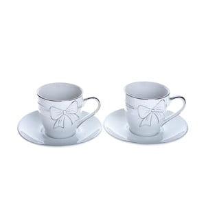 Sada 2 porcelánových šálok na cappuccino s tanierikmi Ewax