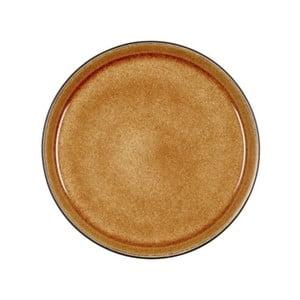 Okrovožltý kameninový dezertný tanier Bitz Mensa, priemer 21 cm