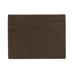 Hnedá pánska kožená peňaženka na bankovky a vizitky Billionaire, 8 × 10 cm