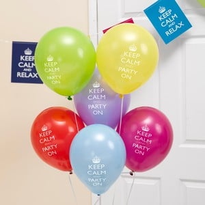 Sada 8 nafukovacích balónikov Neviti Keep Calm