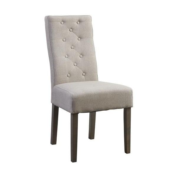 Béžová stolička s tmavými nohami Canett Tango