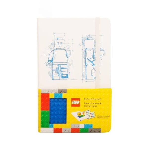 Zápisník Moleskine Lego White, linajkový