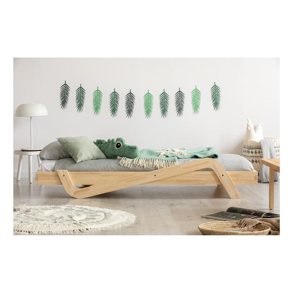 Detská posteľ z borovicového dreva Adeko Zig, 80 × 200 cm