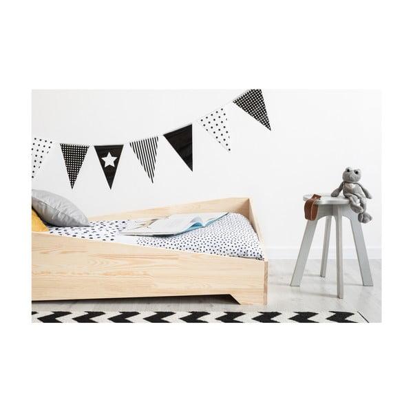 Detská posteľ z borovicového dreva Adeko BOX 7, 80×180 cm
