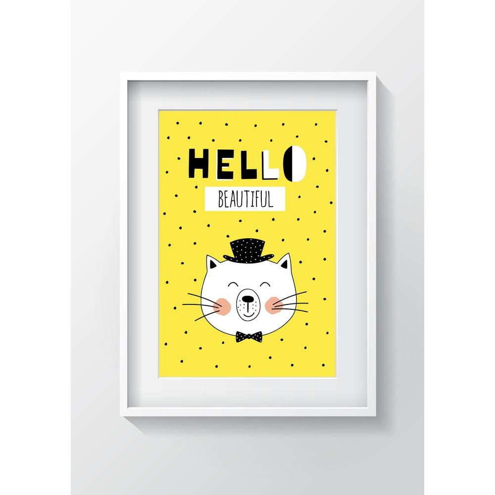 Nástenný obraz OYO Kids Hello Beautiful, 24 x 29 cm