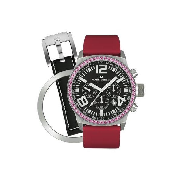 Dámske hodinky Marc Coblen s remienkom a ozdobou ciferníku naviac P3
