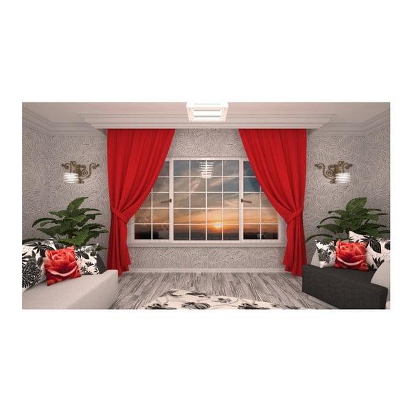 Červený záves Rosario, 140 × 270 cm