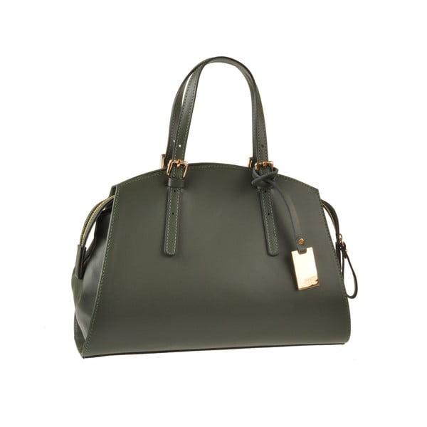 Kožená kabelka Aston, tmavo zelená