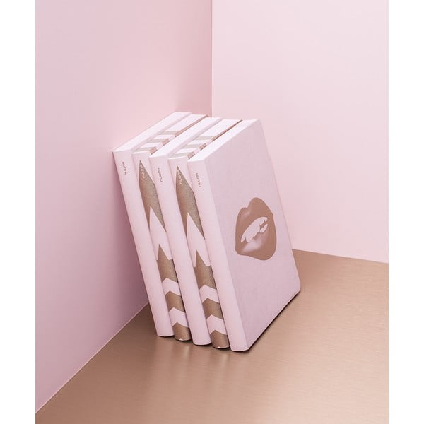 Zápisník Glossy Lips, 16,5x22 cm