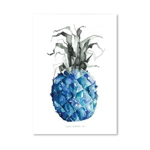 Plagát Pineapple Blue, 30x42 cm