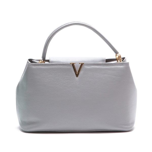 Kožená kabelka Luisa Vanini 1132, sivá