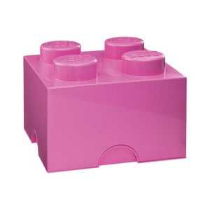 Ružová úložná kocka LEGO®