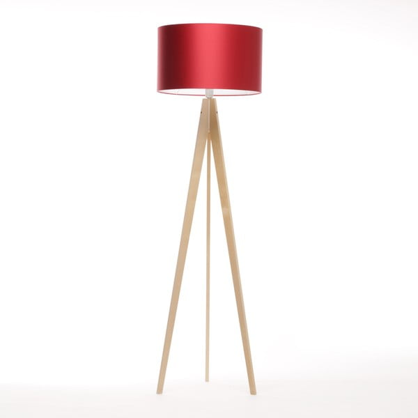 Stojacia lampa Artista Birch/Red, 125x42 cm