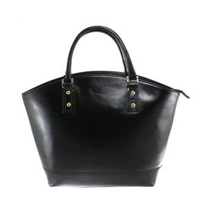 Čierna kožená kabelka Chicca Borse Stefania