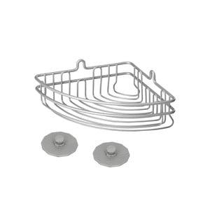 Kúpeľňový rohový košík Metaltex Frost, 19 x 10 cm