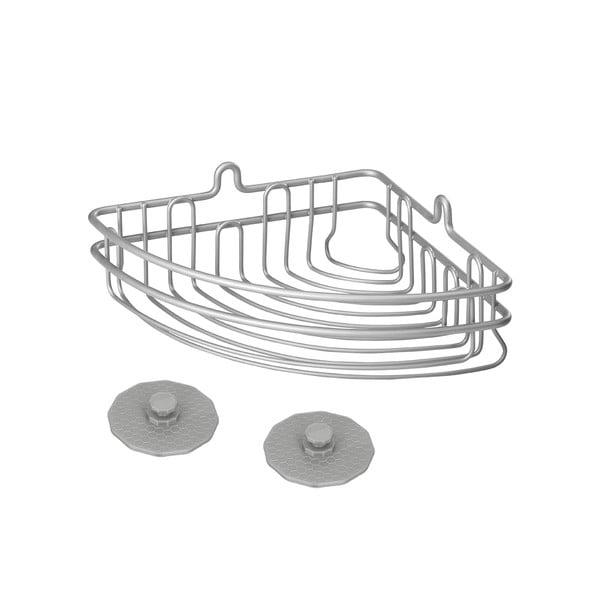 Kúpeľňový rohový košík Metaltex Frost, 19×10 cm