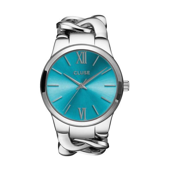 Dámské hodinky Elegante Silver/Blue Lagoon, 38 mm