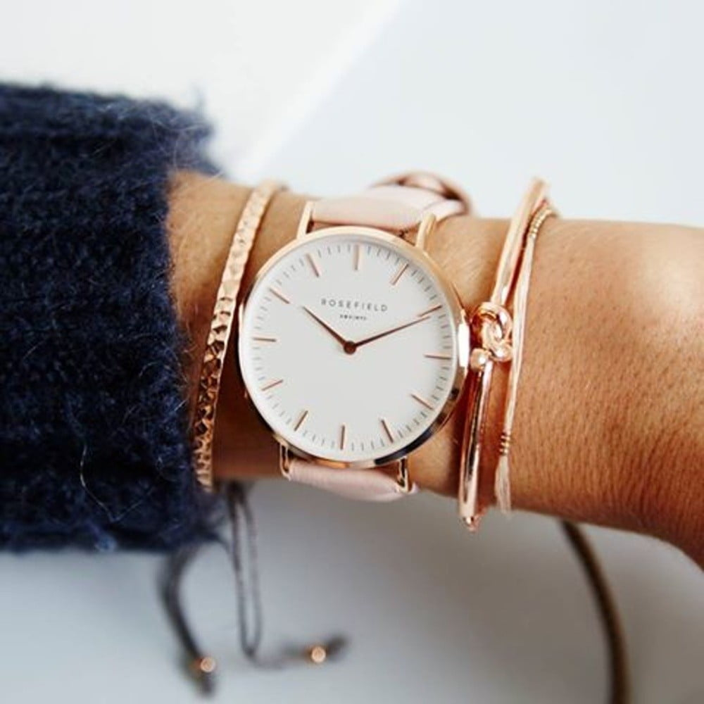 4a89a2839 Ružové dámske hodinky Rosefield The Tribeca | Bonami