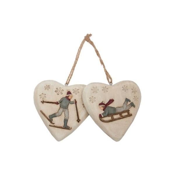 Závesná dekorácia Winter Hearts