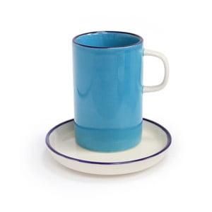 Modrý hrnček s tanierikom Silly Design Retro, 180 ml