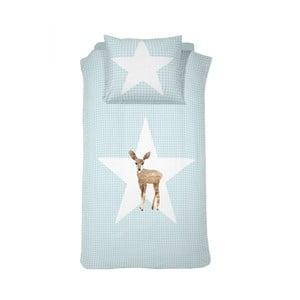 Bavlnené posteľné obliečky Damai Blue Reh, 200 x 140 cm