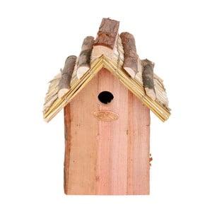 Vtáčia búdka z jedľového dreva so slamenou strechou Esschert Design Antik, výška 27 cm