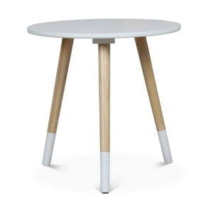 Biely príručný stolík Opjet Paris Vick, ⌀40 cm