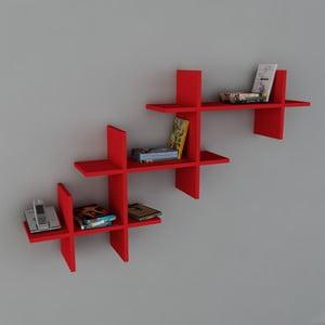 Polica Valentino Book Red, 22x140x84 cm