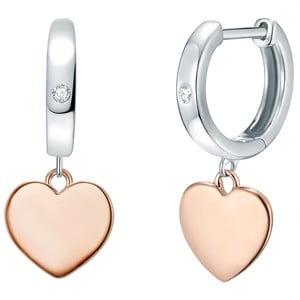Strieborné pozlátené náušnice s pravým diamantom Tess Diamonds Helaine