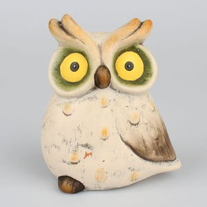 Dekoratívna keramická soška Dakls Udivená sova