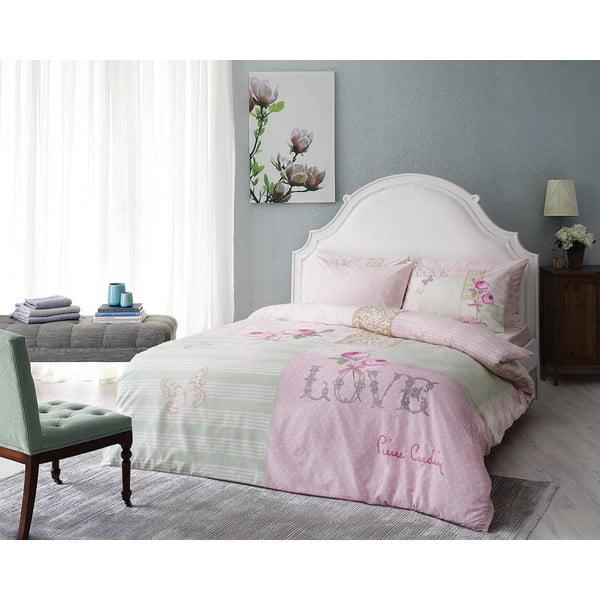 Obliečky Pierre Cardin Avon Pink s plachtou, 200x220 cm