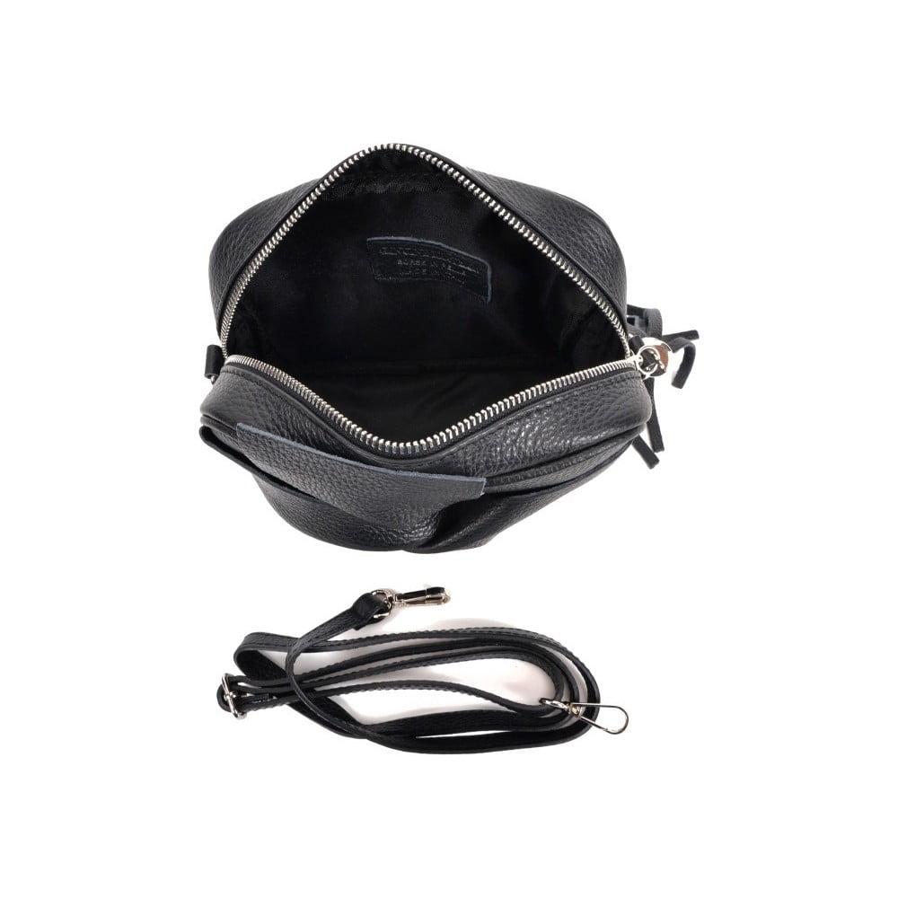 ... Čierna kožená kabelka Roberta M Kara Nero ... 003c15f6ee9