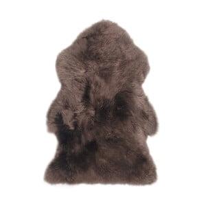 Tmavohnedý vlnený koberec z ovčej kožušiny Auskin Mathe, 95×60 cm