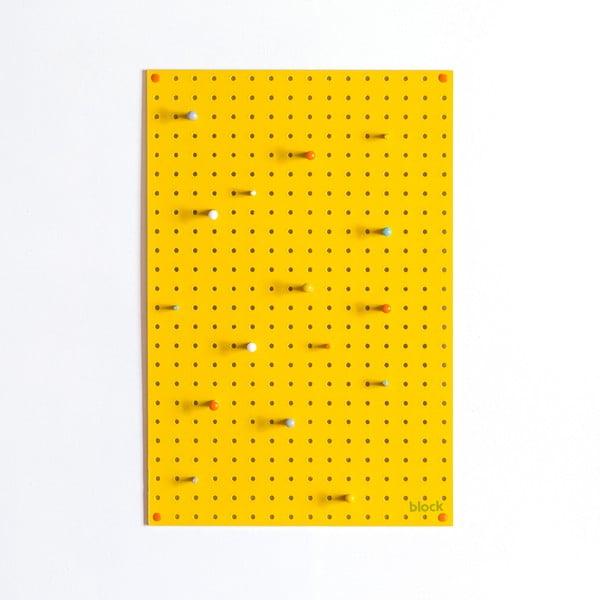 Multifunkčná nástenka Pegboard 40x61 cm, žltá