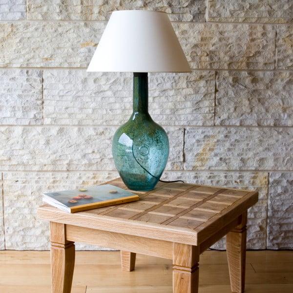 Sklenená stolová lampa, tyrkysová