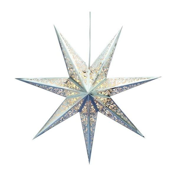 Svietiaca hviezda Vallby Chrome, 45 cm