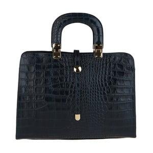 Čierna kožená kabelka Chicca Borse Becci