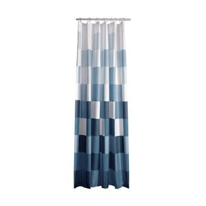 Modro-biely sprchový záves Zone Square