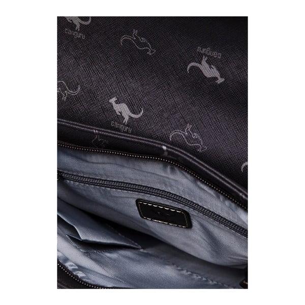 Kožená kabelka s dlhým popruhom Canguru Louis, hnedá