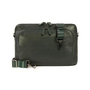 Zelená taška na rameno z talianskej kože Tucano One Post