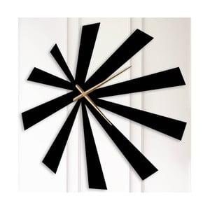Čierne kovové nástenné hodiny Andrew
