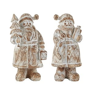 Sada 2 dekoratívnych Santa Clausov KJ Collection, 13,5 cm