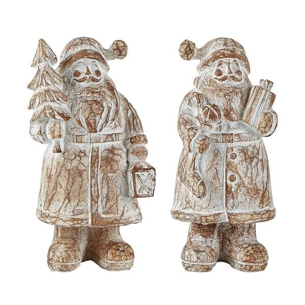 Sada 2 dekoratívnych Santa Clausov KJ Collection, výška 13,5 cm