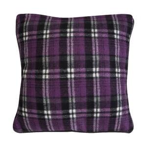 Vankúš Purple Check, 45x45 cm