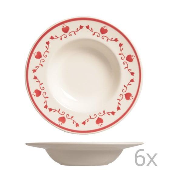 Sada 6 polévkových tanierov Country, 24 cm
