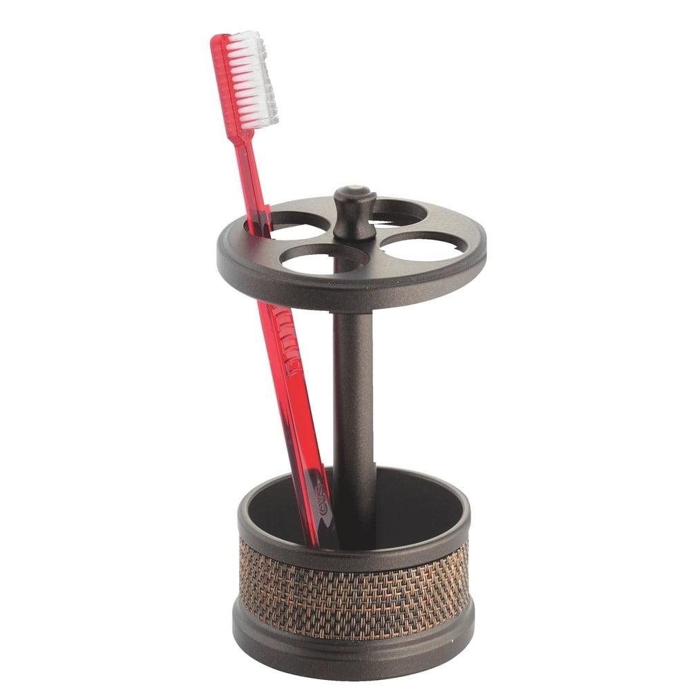 Hnedý stojan na zubné kefky InterDesign Twillo