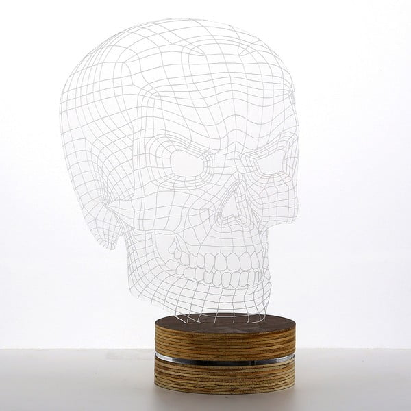 3D stolová lampa Bad Skull