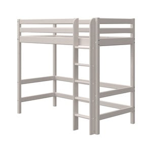 Sivá detská posteľ z borovicového dreva Flexa Classic, výška 184 cm
